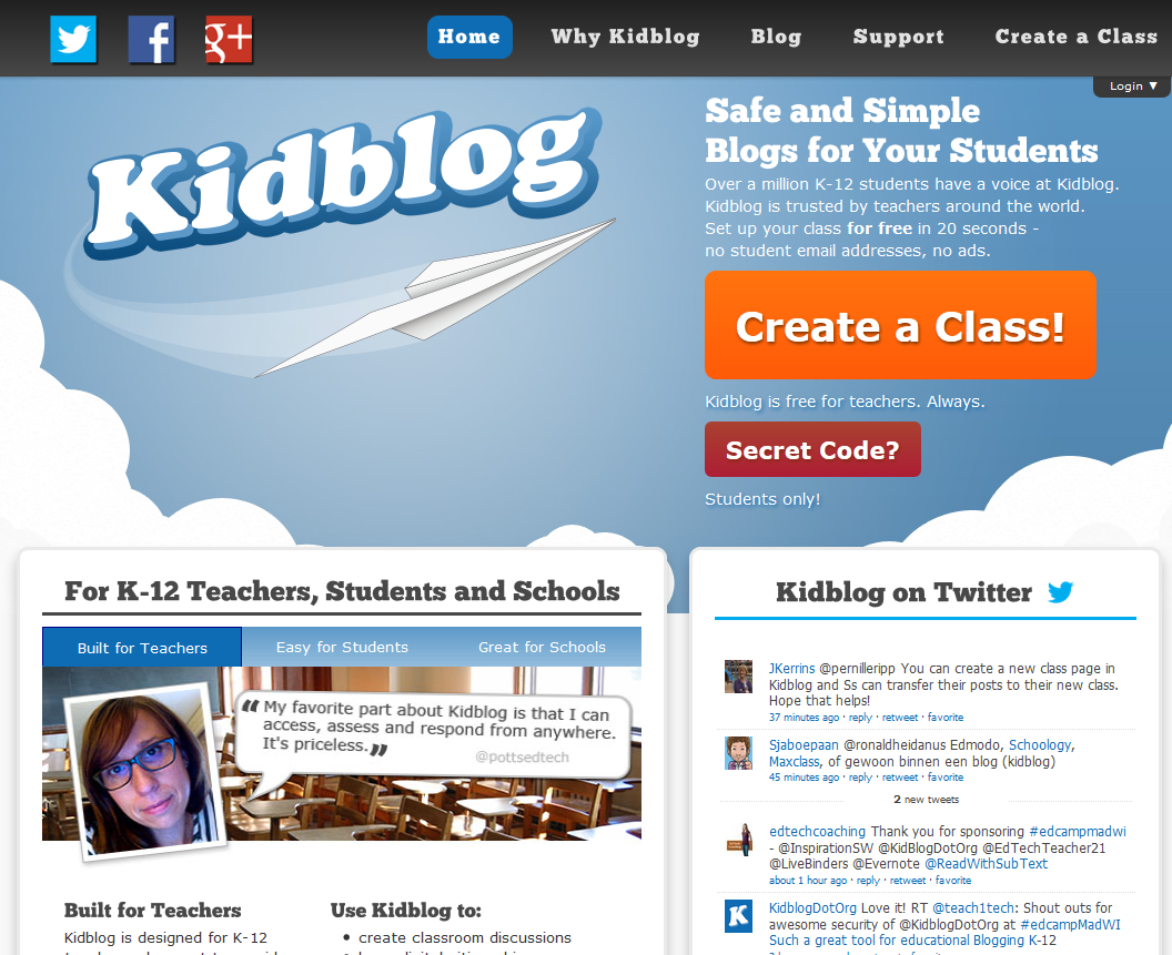 Resource Introduction: Kidblog