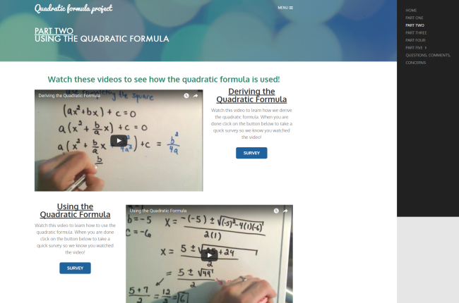 Part Two   Quadratic formula project