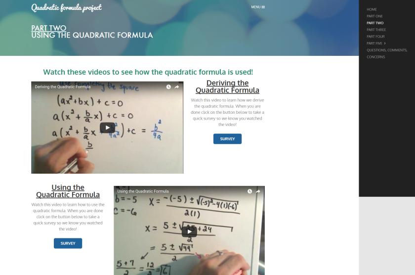 Part Two   Quadratic formula project