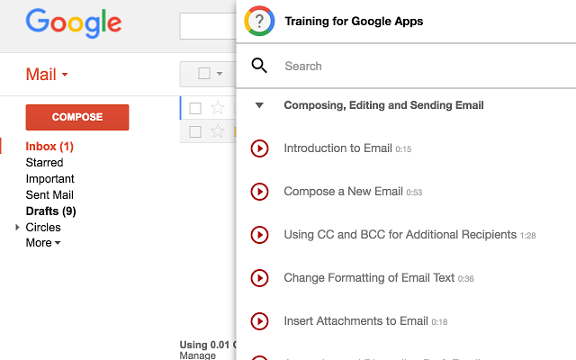 Resource Introduction: Training for GoogleApps