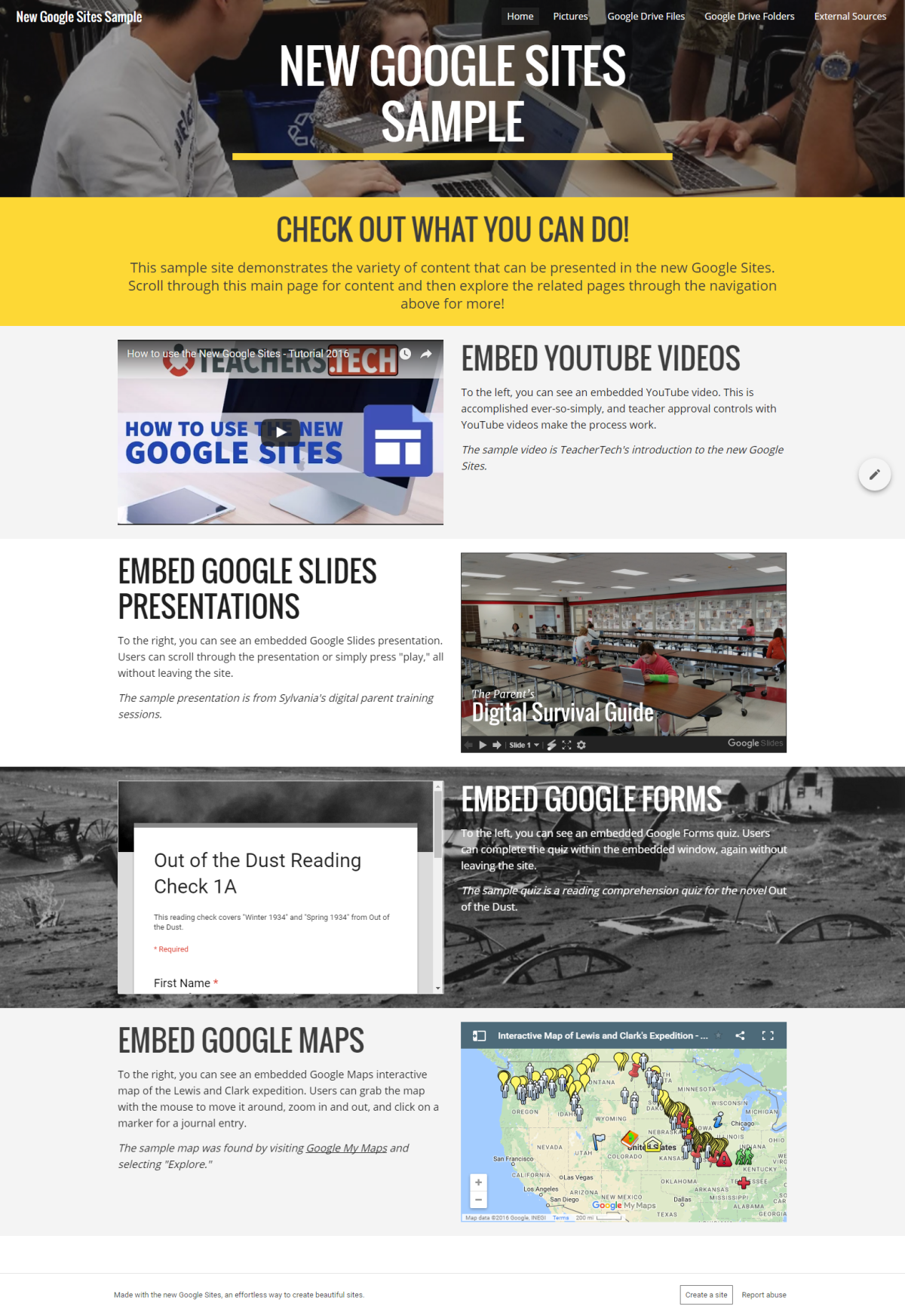 Resource Introduction: The New Google Sites