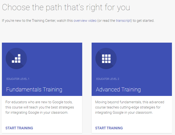Resource Introduction: Google for Education Training Center