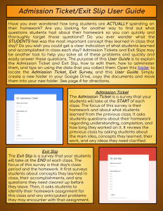 Admission TicketExit Slip User Guide (1)